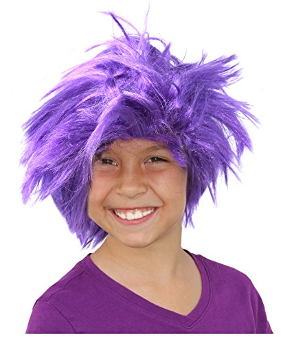 Purple Minion Costume Wig Evil Minion Costume Purple Troll Doll Wig Minion Wig ()