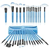 32 Piece Mini Professional Makeup Brushes Set , Start Makers Make up Brushes Complete Travel Set(Blue)