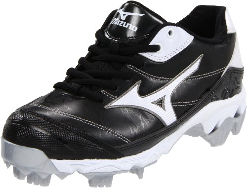 Mizuno Women's 9-Spike Finch 5 Softball Cleat,Black/White,5.5 M US by Mizuno
