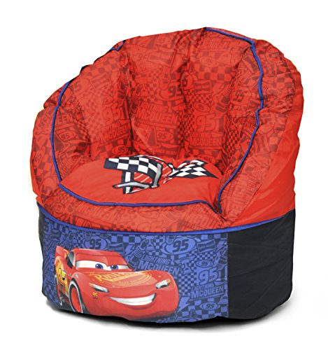 Disney Cars Toddler Bean Bag Chair, Red by Disney