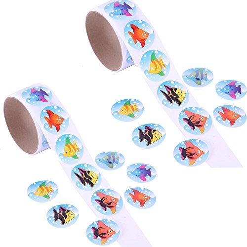 (Rimobul Tropical Fish Roll Stickers (2 Rolls))