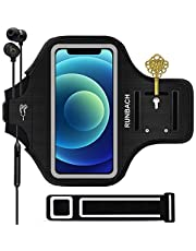 RUNBACH Sport Armband for iPhone 12 Pro/iPhone 12/iPhone 11/iPhone XR Armband,RUNBACH Sweatproof Running Exercise Bag with Fingerprint Touch and Card Slot for 6.1 Inch iPhone 12,12 Pro,11,X (Black)