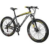 Extrbici 688 マウンテンバイク MTB 自転車 シマノ21段変速 アルミフレーム タイヤ26インチ ディスクブレーキ サスペンション 軽量 通勤通学用