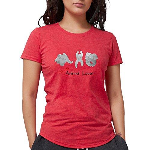 CafePress Towel Animal Lover T-Shirt - Womens Tri-Blend T-Shirt