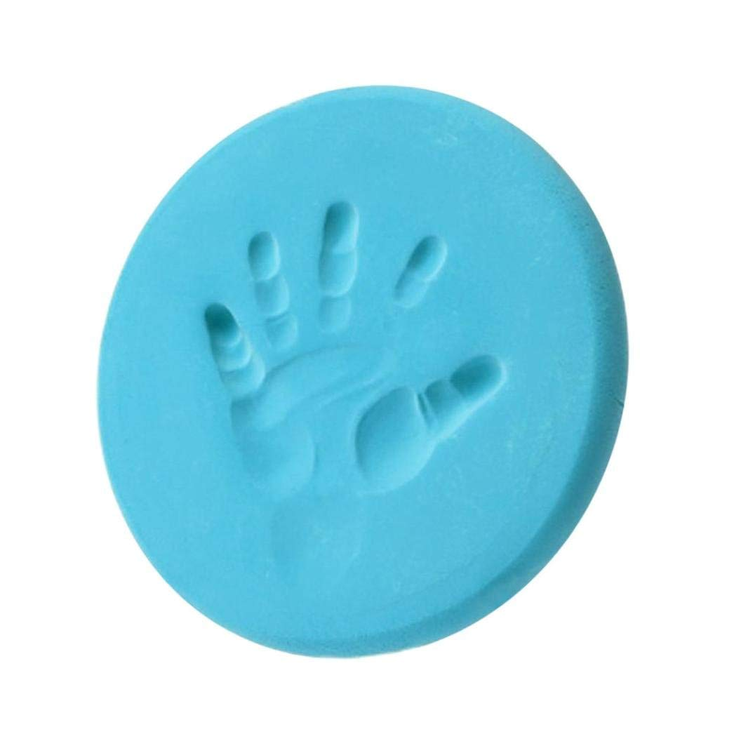 Fliyeong Premium Quality Baby Air Drying Soft Clay Handprint Footprint Imprint Casting Fingerprint Toy Game Light Blue
