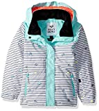 Roxy Little Girls' Anna Miss Snow Jacket, Bright White_Little Miss Strip, 3
