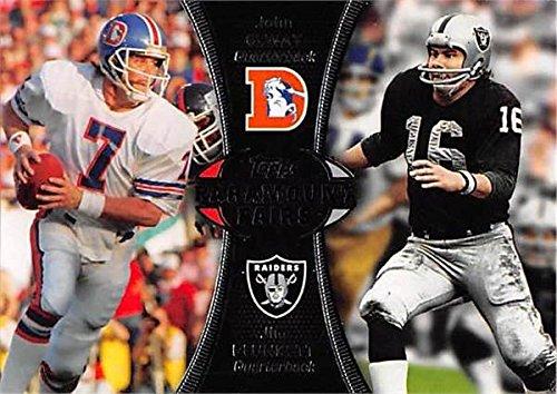 John Elway & Jim Plunkett Football Card (Broncos & Raiders) 2012 Topps Paramount Pairs #PA-EP - John Elway Autographed Football
