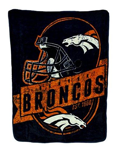 50x60 Royal Plush Blanket (Polyester Sports Fan Throw Blankets Nfl Royal Plush Raschel Throw Blanket 50 X 60 In. (Broncos) 60 X 50 X 1 Inches Orange)
