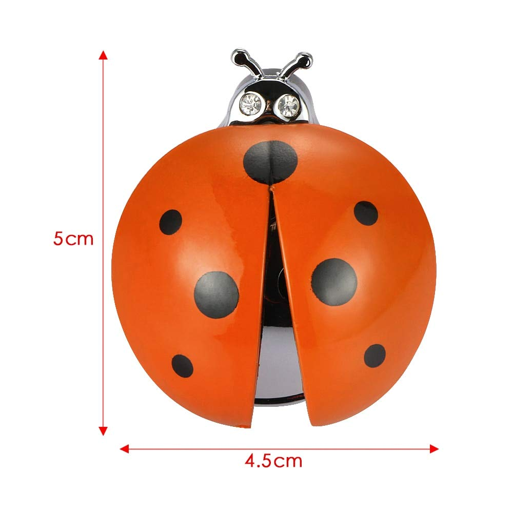 Gold Happy Car Ornament ABS Ladybug Decoration Perfume Clip Air Purifier Cute Automobiles Interior Fragrance Essential Oil Diffuser Gifts