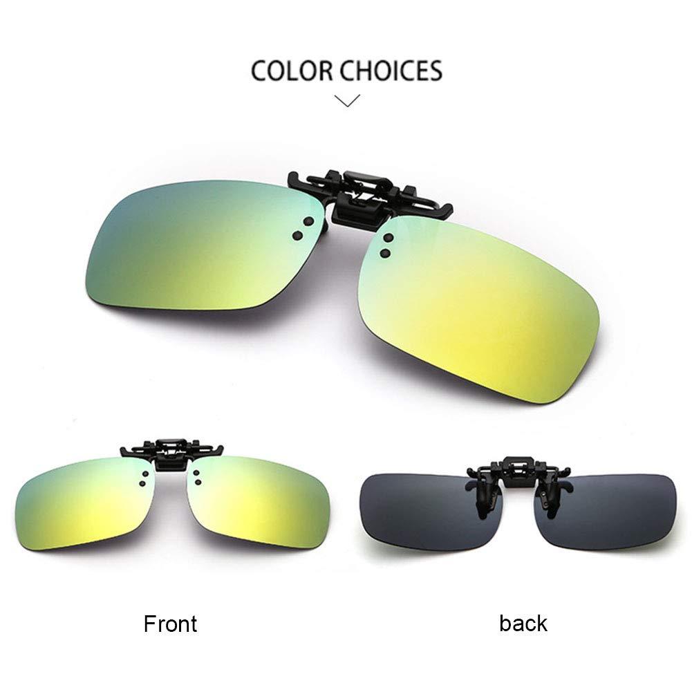 Polarized Sunglasses Flip-up Clip On Driving Glasses Day Night Vision Lens UV400
