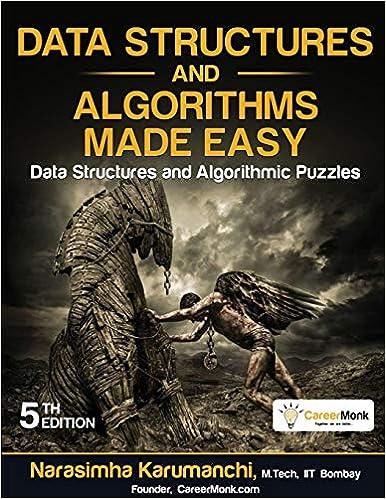 data structures and algorithms by narasimha karumanchi