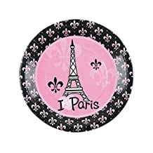 Perfectly Paris Lunch Plates - Birthday and Theme Party Supplies - 8 per Pack - From Fun365
