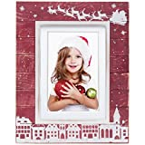 Red Wood Christmas Picture Frame