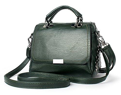 en véritable mode bandoulière bandoulière grande à d'épaule cuir capacité ladies cuir Vert fourre réglable tout avec sac en souple sac femme poignée top nouvelle Ghlee qZOBPwtXZ