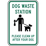 ComplianceSigns Vinyl Pets / Pet Waste label, Reflective 18 x 12 in. with Pet Rules info in English, White