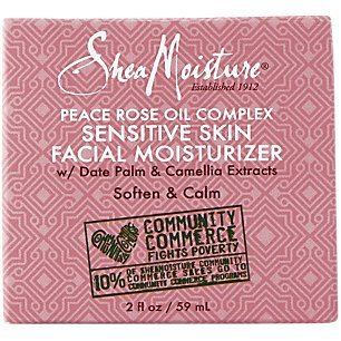 Shea Moisture Peace Rose Oil Complex Sensitive Skin Facial Moisturizer for Unisex, 2 Ounce