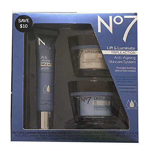 (No7 Lift & Luminate Triple Action Skincare System )