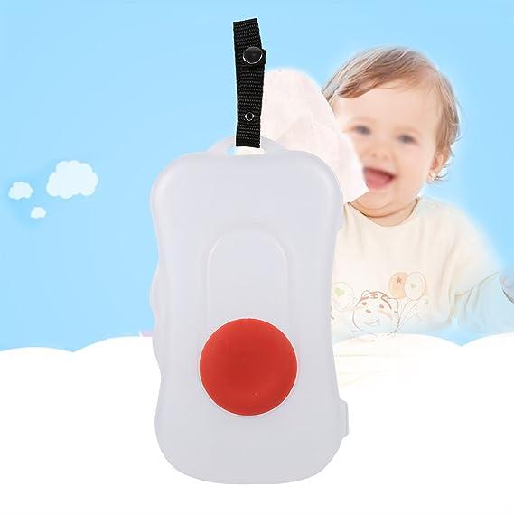 Estuche para bebé, estuche portátil para bebé toallita húmeda dispensador de toallitas húmedas dispensador accesorios cochecito niño uso exteriores(# 1): ...