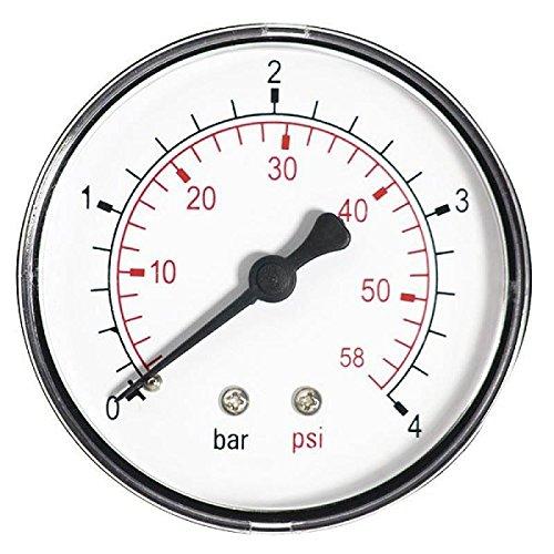 63mm 2, 5bar manomè tre air huile ou eau 1/4 'bspt manomè tre d'entré e arriè re 5bar manomètre air huile ou eau 1/4 bspt manomètre d' entrée arrière aquafilter