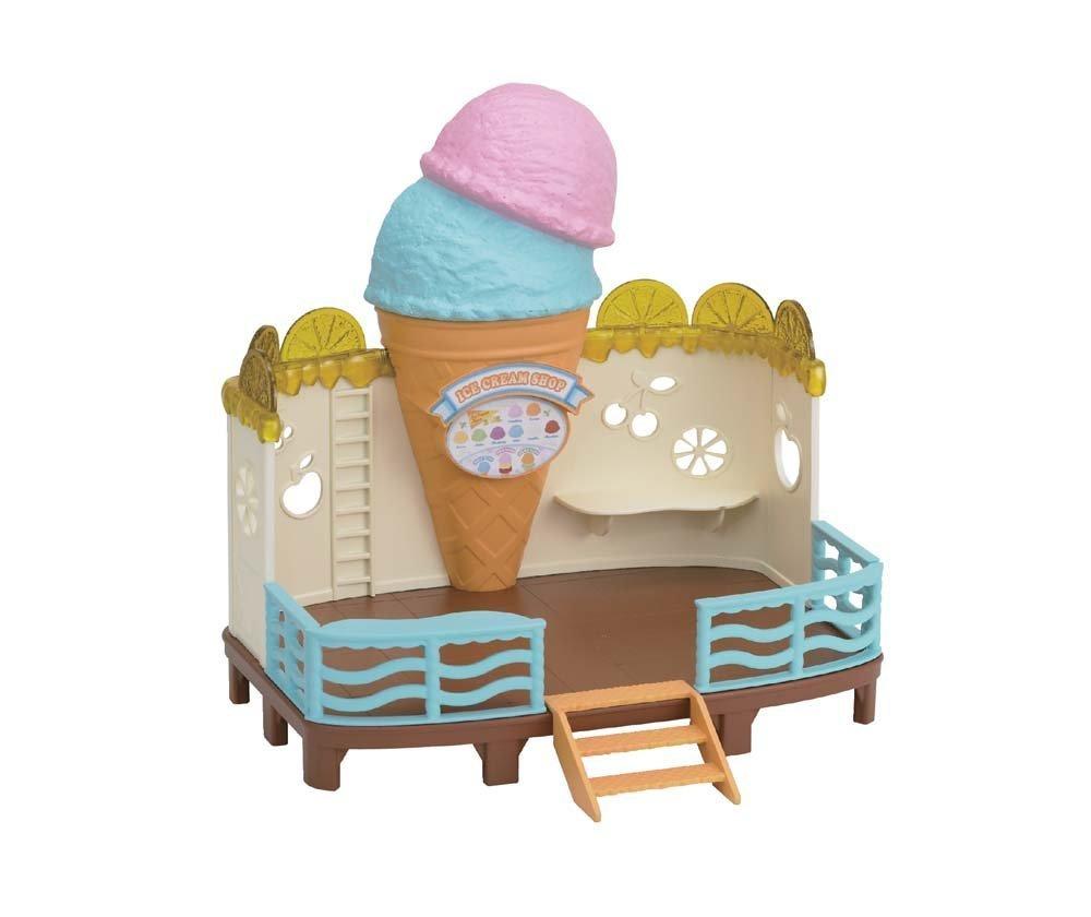 amazon com calico critters seaside ice cream shop toys u0026 games