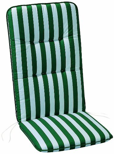 Miglior cuscino estraibile Freizeitmöbel Basic Line - strisce verde/bianco - Sedia relax con schienale alto - 175 x 50 cm Best 05300269