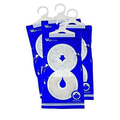 4 Luftentfeuchter Maxi Pack 235 gr für Schrank mit Duft Granulat zum Aufhängen ohne Strom My DEHUMIDIFIER for Wardrobe…
