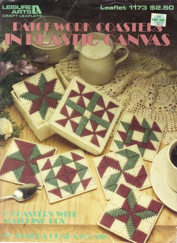 Patchwork Coasters in Plastic Canvas (Leaflet # 1173)