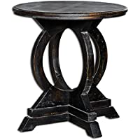Uttermost 25630 Maiva Accent Table, Black