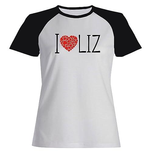 Idakoos I love Liz cool style - Nomi Femminili - Maglietta Raglan Donna