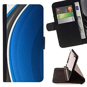 For Apple (4.7 inches!!!) iPhone 6 / 6S ,S-type Resumen Azul- Dibujo PU billetera de cuero Funda Case Caso de la piel de la bolsa protectora