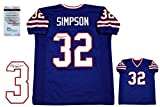 OJ Simpson Autographed SIGNED Jersey - JSA Witnessed Authentic - Royal