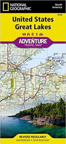 Map Of Usa Great Lakes.United States Great Lakes National Geographic Adventure Map