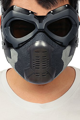 XCOSER Winter Soldier Mask Bucky Eye Face Mask Props for Adult Halloween (Anime Halloween Mask)