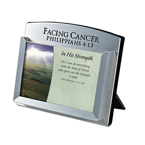 Scripture Card Holder (Lighthouse Christian Products Facing Cancer Metal Scripture Card Holder, 3 1/2 x 4