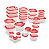 Rubbermaid Easy Find Lids Food Storage Container, 60-piece Set, Red