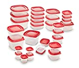 #10: Rubbermaid Easy Find Lids 60-Piece Food Storage Container Set, Red