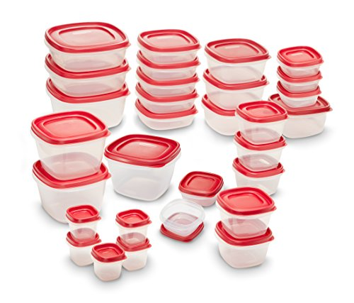 Lids 60-Piece Food Storage Container Set, Red (Leftovers Containers)
