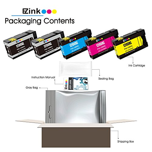E-Z Ink (TM) Compatible Ink Cartridge Replacement For PGI-1200 XL PGI-1200XL PGI1200XL High Yield (2 Black, 1 Cyan, 1 Magenta, 1 Yellow) 5 Pack Works With MAXIFY MB2020 MB2320 Photo #5