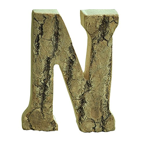 Oak-Pine Vintage Large Decorative Wooden Letters & Number DIY Wall Stickers Hanging Wall Decor Restaurant Decor for Home, Nursery, Shop, Business Signs, Name,Festival Wedding Decoration N