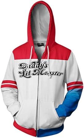 Estilo: diseño típico de suéter con cremallera, manga larga, aspecto súper fashion.,Suicide Squad Ja