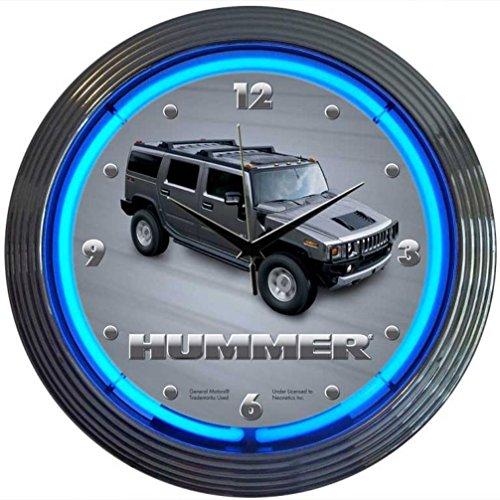 Neonetics Hummer Neon Wall Clock, (Hummer Wall)