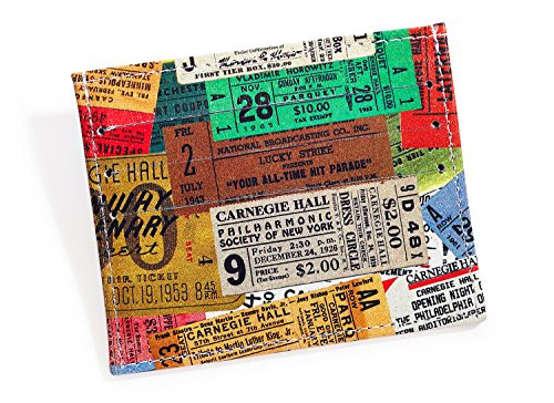 Carnegie Hall Vintage Tickets Leather Wallet