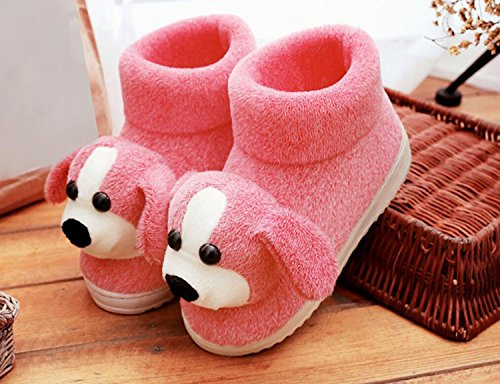 de Antideslizante caseros de Mujer Animados Botas caseros Calientes Zapatos Botas Zapatillas algodón Rojo Invierno Lindo Dibujos de de DANDANJIE Zapatos qvBtw