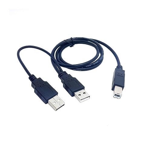 Doble USB 2.0 Macho a estándar B Macho Y Cable 80 cm para ...