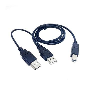 WRDXC Dual USB 2.0 Macho a estándar B Macho Y Cable 80cm para ...