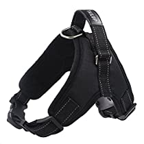 Aidle Dog Vest Harness, Adjustable Soft Padded Breathable Saddle Vest Harness for Small Medium Large Dogs (M(Chest:20.5-23.5)