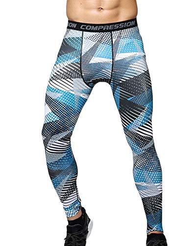 Fitness Sport Pantaloni Leggings Aspicture Asciugatura Base Corsa Compressione Yonglan Collant Stampa Layer Uomo Rapida Ygby76fv