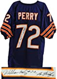 William Perry Signed Autographed Navy Custom Throwback Jersey w/The Fridge