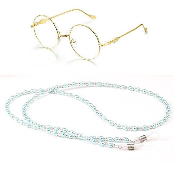 d1edf3ac8e43 Amazon.com  Eyeglass Chain Beaded Reading Glasses Lanyard Glasses Retainer  Strap Sunglasses Strap Eyewear Accessory Necklace Women  Clothing