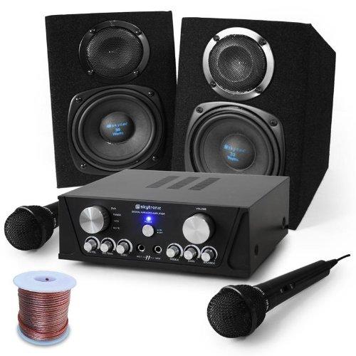 Equipo karaokeCapri Star altavoces, micrófono 400W Electronic-Star